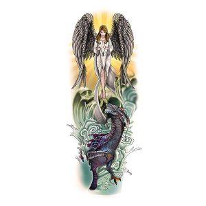 Angel Dragon Tattoo Sleeve