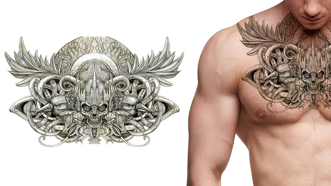 The skull tattoo is the rebel's hallmark. It has maintained popularity throughout generations, with its simple, bold aesthetic, often understood as a symbol of death and mortality