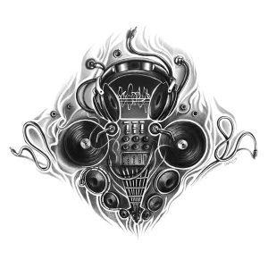 Music Dj Tattoo Designs