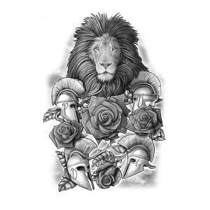Roman Lion Tattoo Drawing