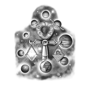 The Planets Tattoo Design