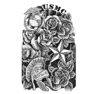 Usmc Quarter Sleeve Tattoo
