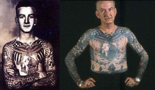 Tattooed Man from the 1970s