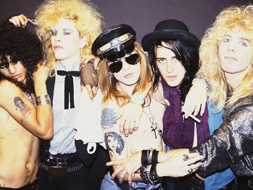 Guns and Roses Showing off Their Tattoos