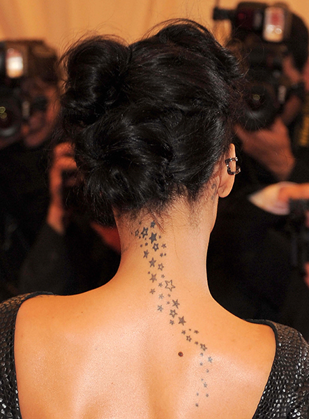 Rihanna Star Wave Tattoo
