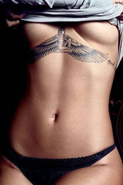 Rihanna Underboob Tattoo