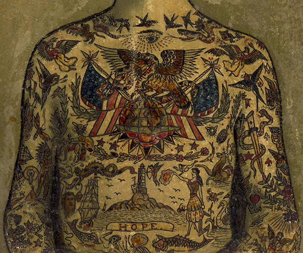 Sailor Jerry Style Tattoos Covering a Body