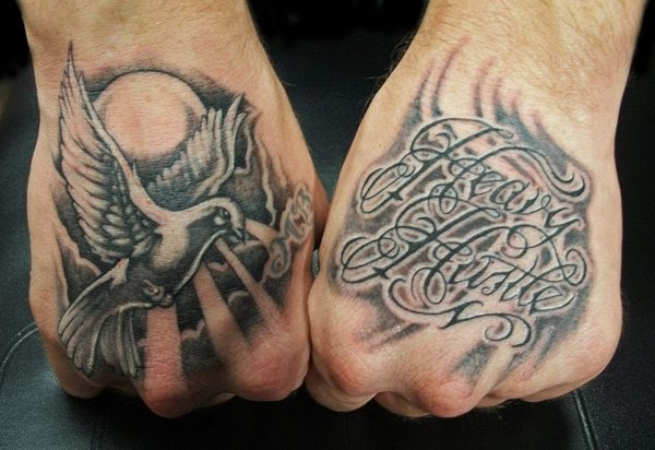 Hand Tattoos on a Man