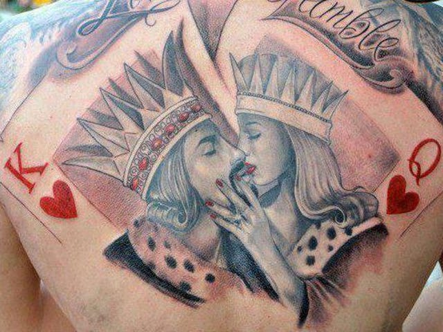 King and Queen of Hearts Tattoos
