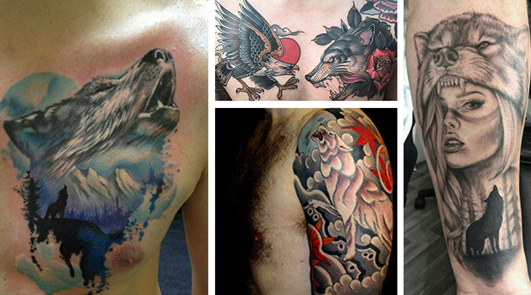 The wolf is a dynamic creature, representing both evil predators and noble warriors. They have a special air of mystery, and they have stood as powerful characters in many works of literature and film. Below, we've put together a wolf tattoo dictionary, explaining the meaning behind each of these wolf tattoo designs.