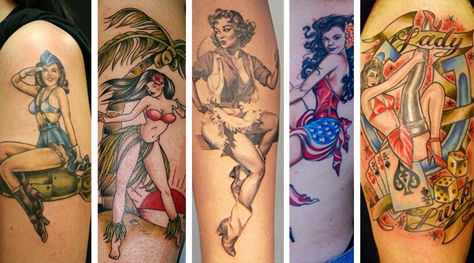 As one of the most explicit expressions of femininity and beauty, pin up girl tattoo designs have generated a lot of interest and controversy. They originated in World War II era, when men from the Na...