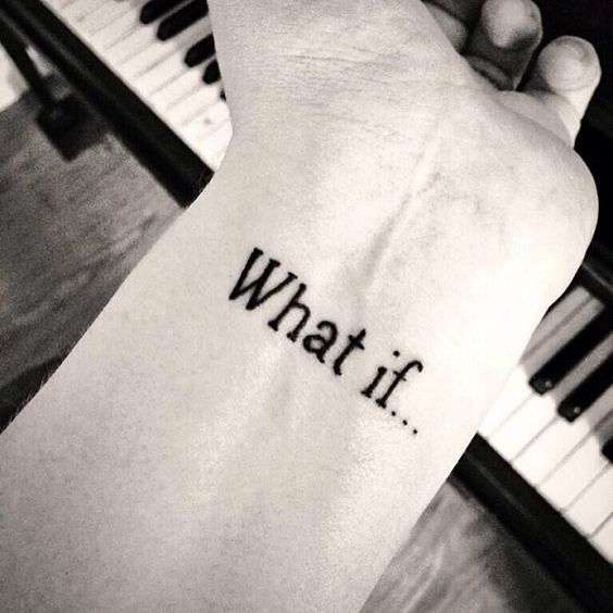 What if... in Leander Font Tattoo