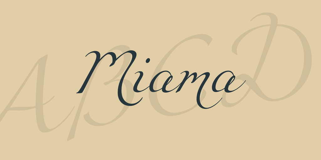 Example of Miama Font