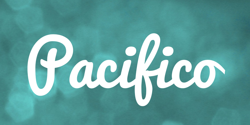 Example of Pacifico Font