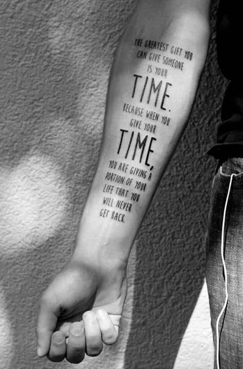 Trash Hand Tattoo of a Poem