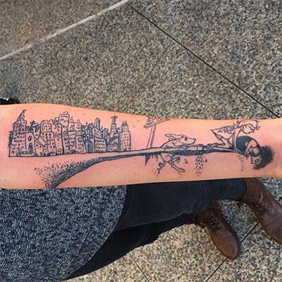 Where the Sidewalk Ends Tattoo