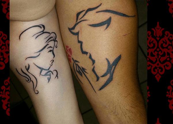 Beauty and the Beast Couple Tattoo