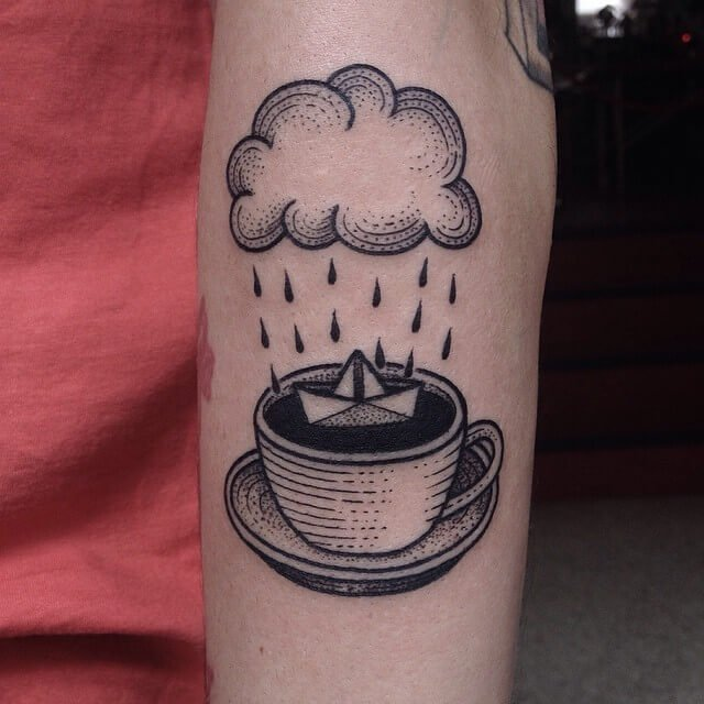 IT Coffee Tattoo Design