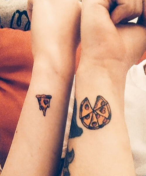 Pizza and Slice Tattoo