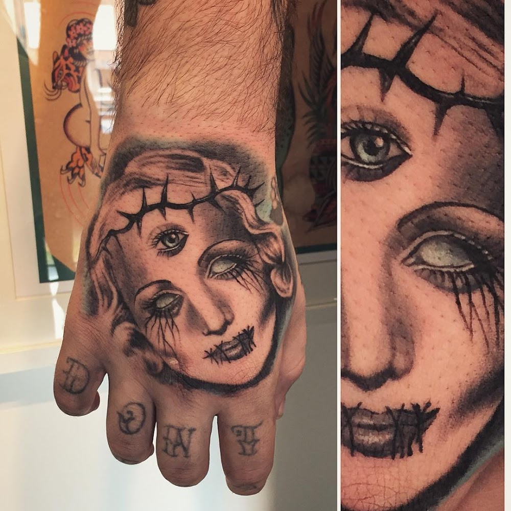 Hand Tattoos of Zombie Woman