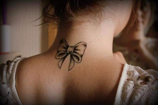 Black Bow on Neck