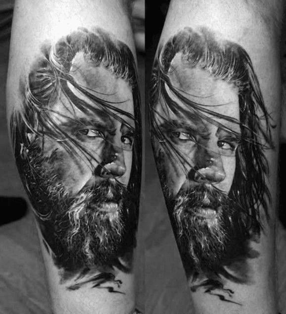 Realistic Portrait Tattoo Design
