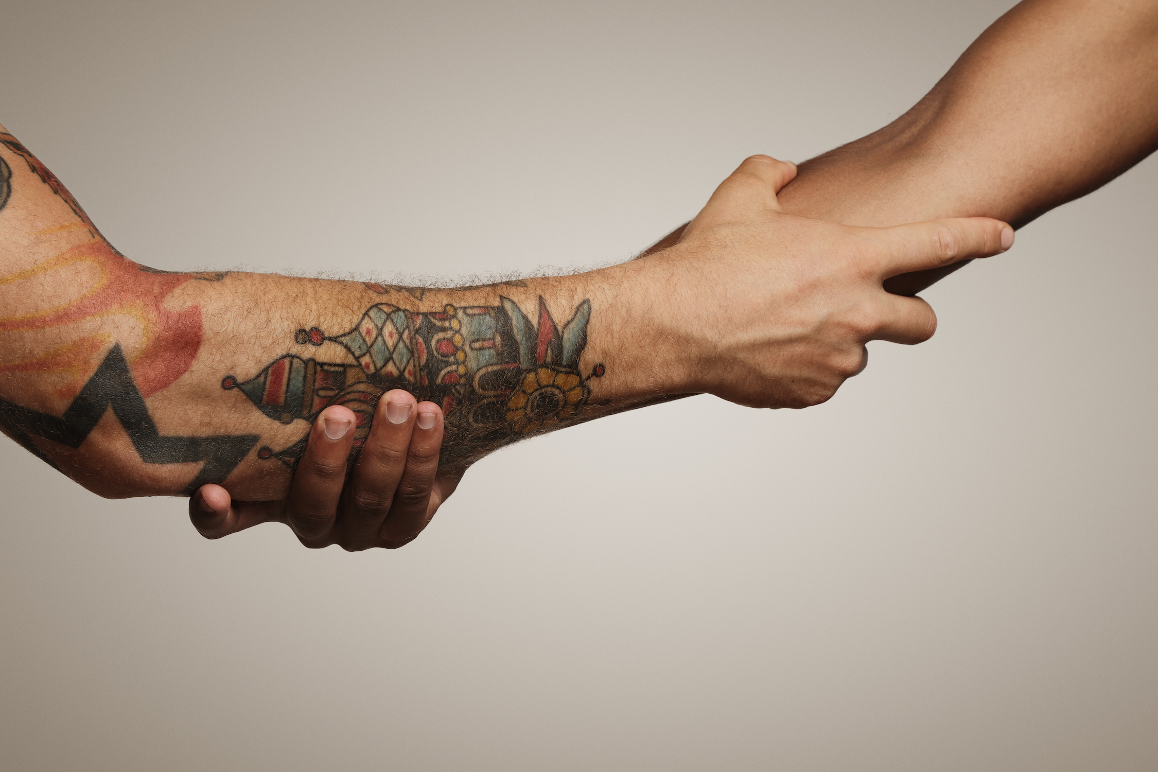Forearm tattoos are a great way to show off your ink, still be able to cover it up when you want. It's a place where you can actual easily see your tattoo easily.