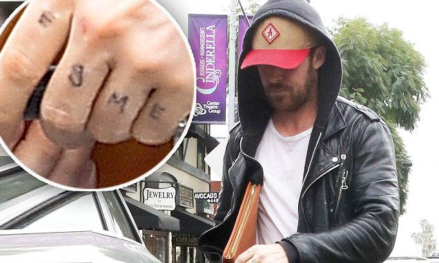 Ryan Gosling Stick and Poke Tattoo