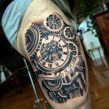 Clock and Cogs Tattoo