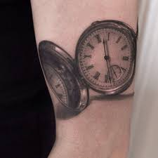Realistic Pocket Watch Tattoo