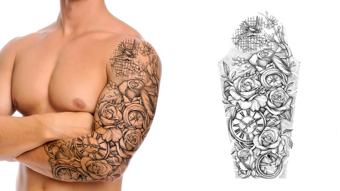 100+ [ Sleeve Tattoo Slip On Fake ] | 6pc Sale Style