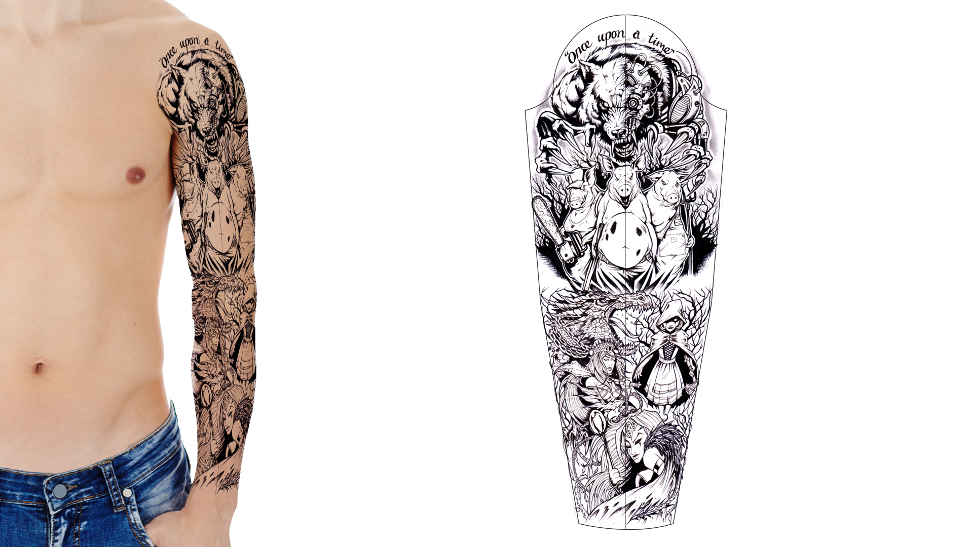 Tattoo Sleeve Stencils: Custom Tattoo Design