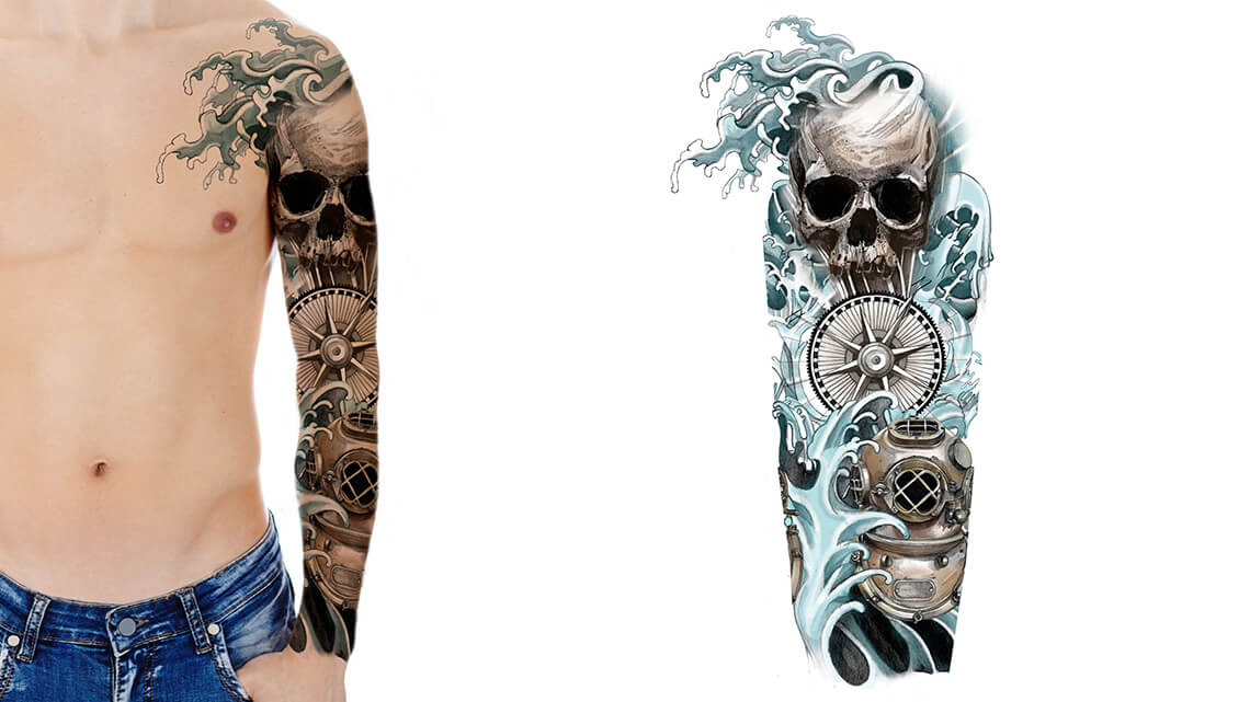 Sleeve Tattoo Drawings: Custom Tattoo Sleeve Designs