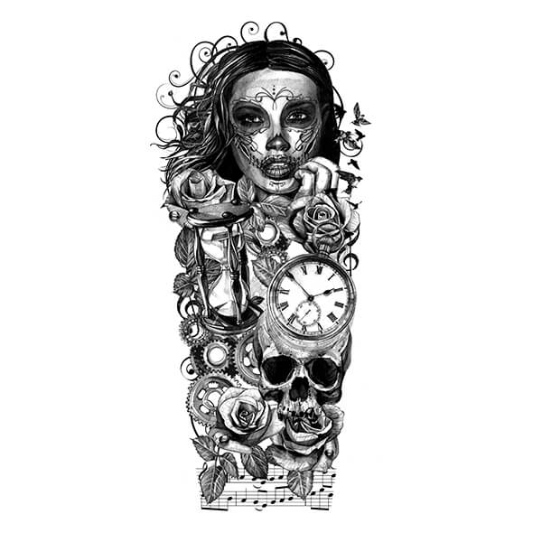 Sleeve Tattoo Drawings: Custom Tattoo Design