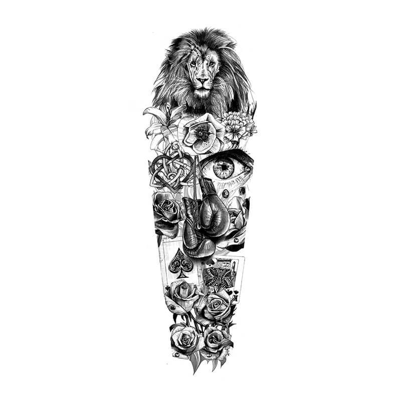 Sleeve Tattoo Drawings: Tattoo Designs Artwork & Video Gallery