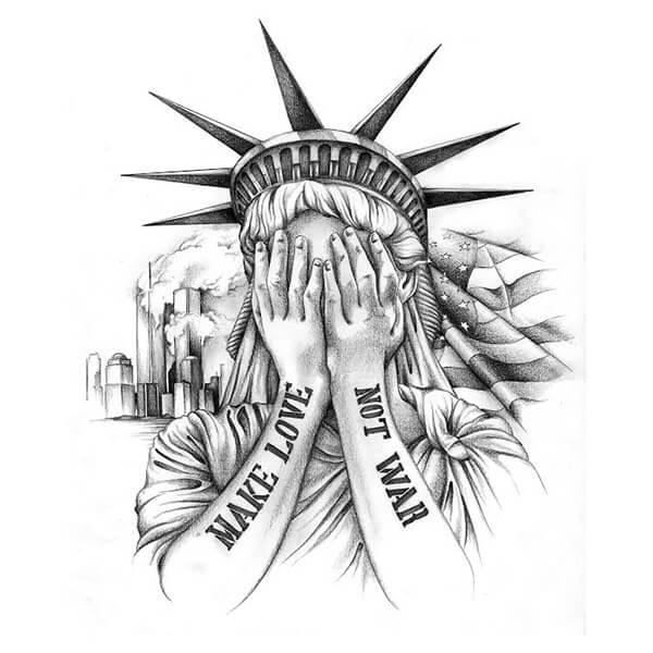 Statue of liberty tattoos