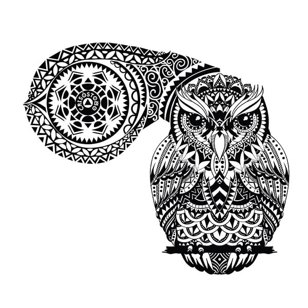 Owl tattoo meanings custom tattoo design for Tribal owl tattoo