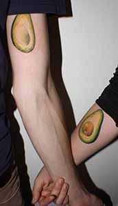 Avocado Partner Tattoos