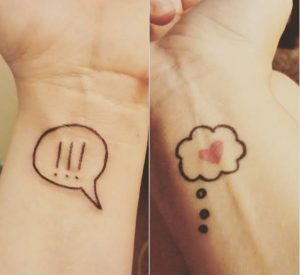 Speech Bubble on Wrists