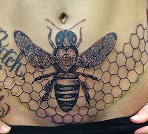 Bee Tattoo Meanings | Custom Tattoo Design