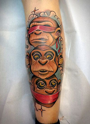 monkey tattoo meanings custom tattoo design. Black Bedroom Furniture Sets. Home Design Ideas
