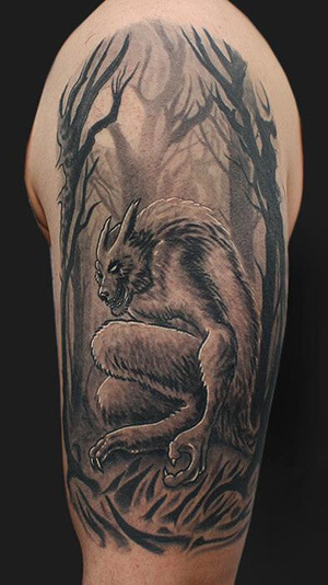 a2798e2d2 Photo: Tattoos For You · Wolf Headdress Tattoo