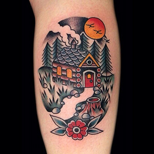 150 epic canadian tattoos custom tattoo design traditional cottage in the woods tattoo gumiabroncs Images