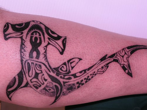 7 shark tattoos that will leave your jaws dropped custom tattoo design. Black Bedroom Furniture Sets. Home Design Ideas