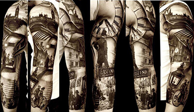 Photorealistic Sleeve Tattoo