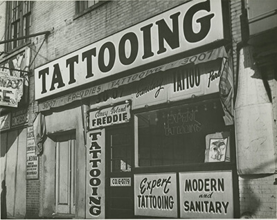 Historic NYC, Coney Island, Tattoo Shop Storefront