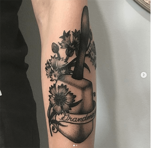 Flower and Script Tattoo for Alyssa