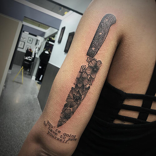 Knife Texture Tattoo