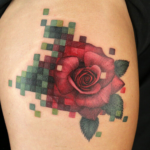 Pixelated Tattoos: In Style, Out Of Focus