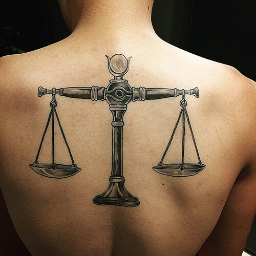 Whole Back Piece Scale Tattoo